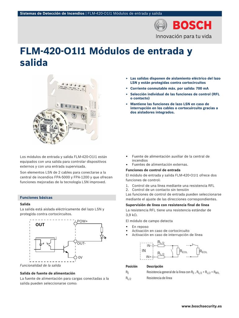 Flm 420 O1i1 Módulos De Entrada Y Salida
