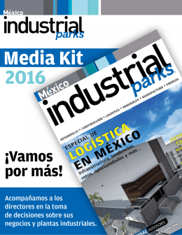 Media Kit 2016 - Industrial Parks