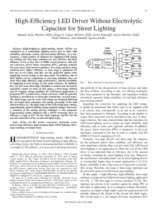 High-Efficiency LED Driver Without Electrolytic Capacitor for Street