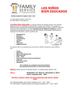 los niños bien educados - Family Service of Greater Boston