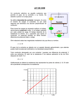 Práctica: Ley de Ohm en corriente continua