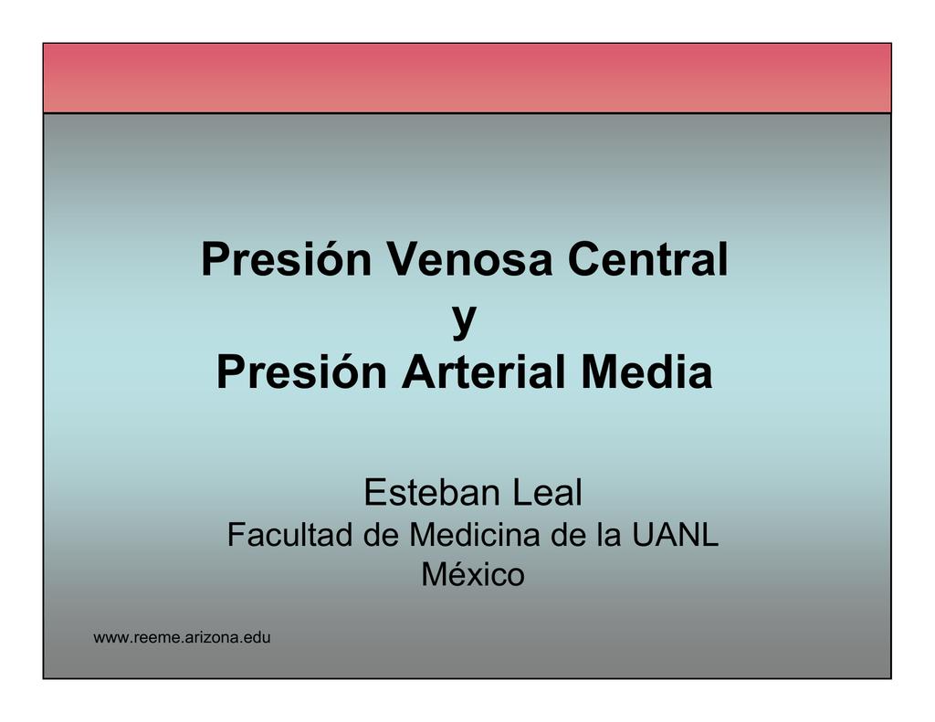 Presión sanguínea venosa normal
