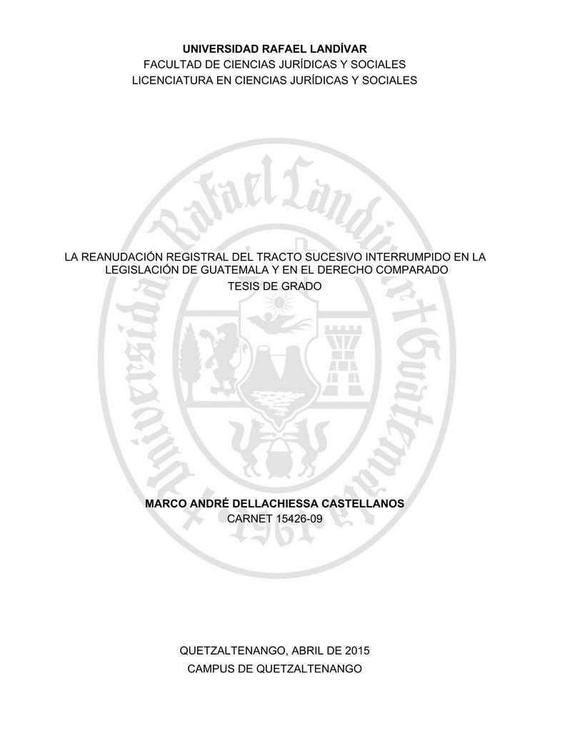 la reanudación registral del tracto sucesivo interrumpido en la