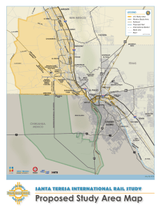 Study Area Map - the New Mexico Border Authority