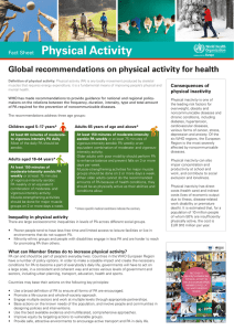 Fact Sheet on Physical Activity: Global
