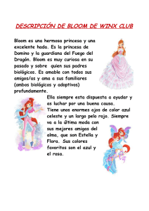 descripción de bloom de winx club