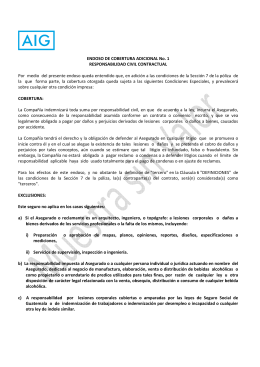 Endoso 1 RESPONSABILIDAD CIVIL CONTRACTUAL