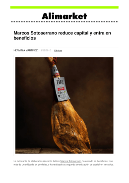 Marcos Sotoserrano reduce capital y entra en beneficios