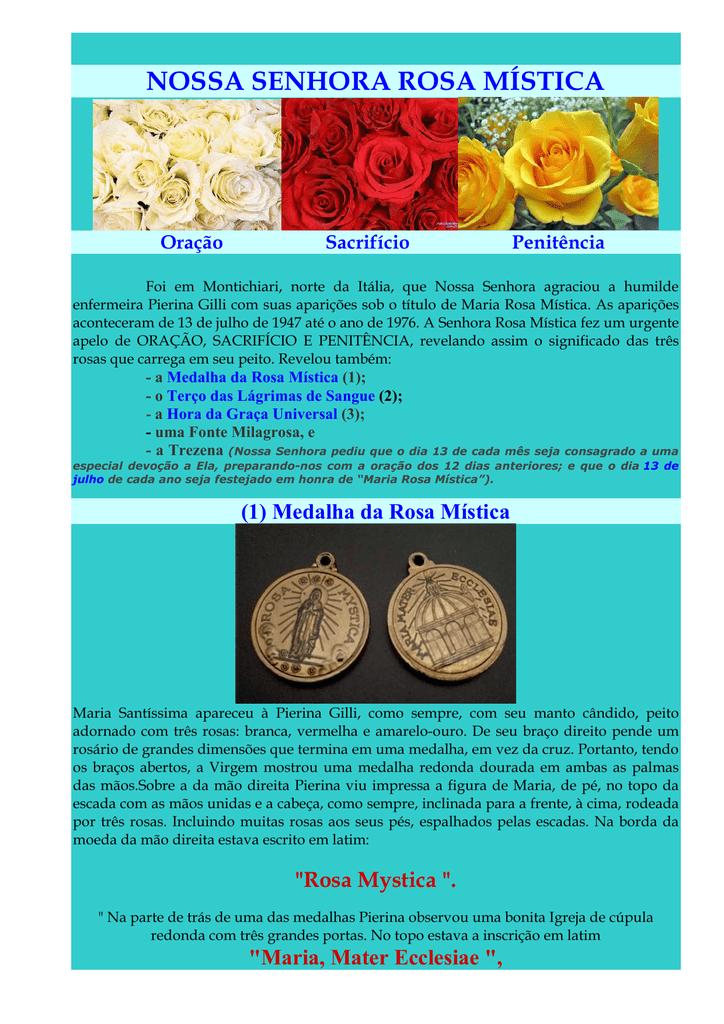 2b762a7712e Medalha, Terço e Hora da Graça Universal