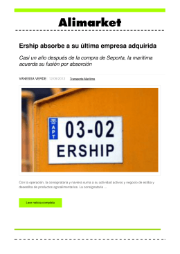 Ership absorbe a su última empresa adquirida - Noticias