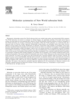 Molecular systematics of New World suboscine birds