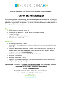 Junior Brand Manager