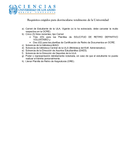 Requisitos exigidos para desvincularse totalmente de la Universidad