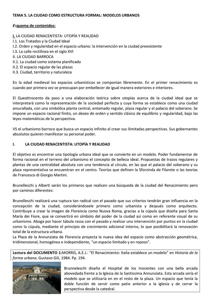 Tema 5 La Ciudad Como Estructura Formal Modelos