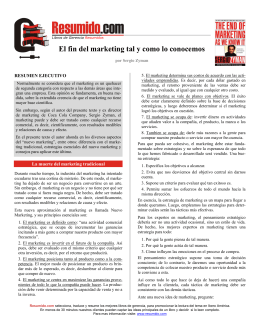 El fin del marketing tal y como lo conocemos
