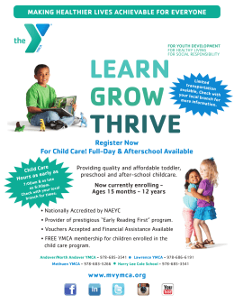 LEARN GROW THRIVE Register Now For Child