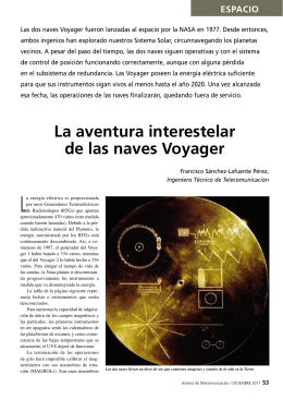 La aventura interestelar de las naves Voyager