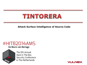 Attack Surface Intelligence of Source Code