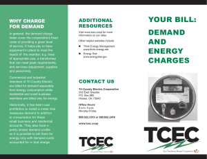 your bill: demand and energy charges
