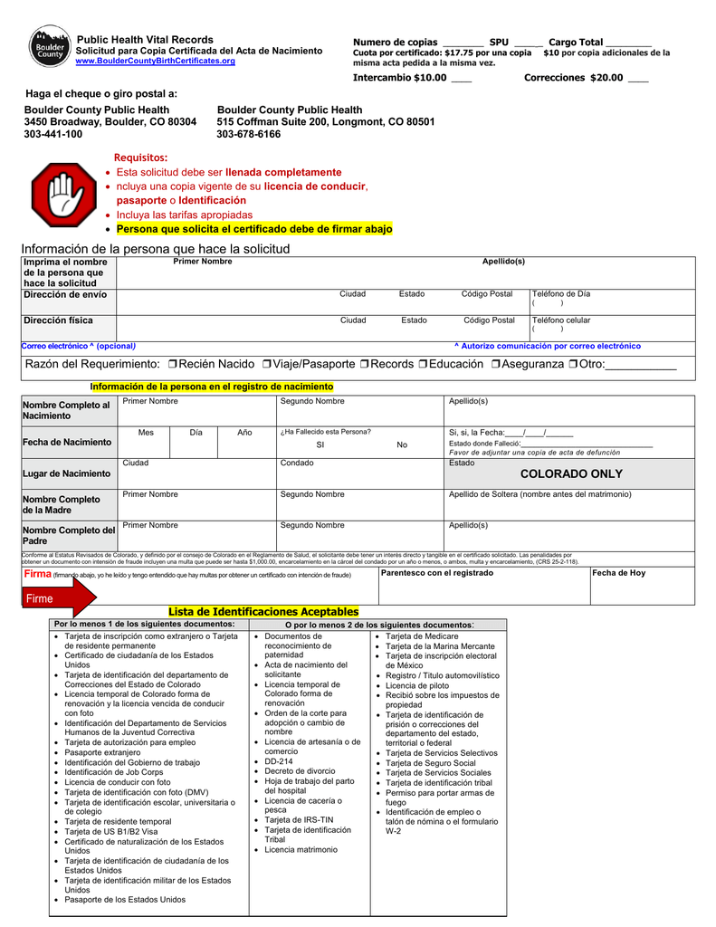 Información de la persona que hace la solicitud