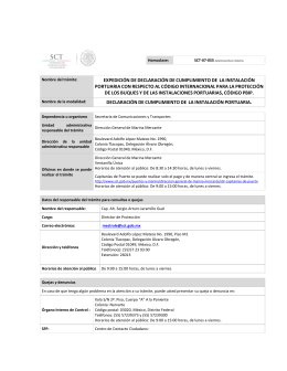 Requisitos - Secretaría de Comunicaciones y Transportes