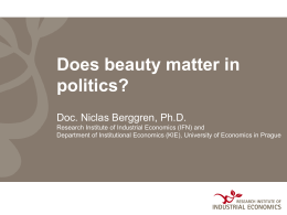 Does beauty matter in politics?