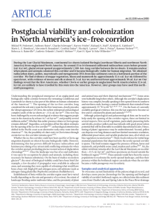 Postglacial viability and colonization in North