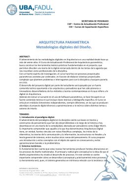 Certificado de alumno regular fadu for Arquitectura parametrica pdf