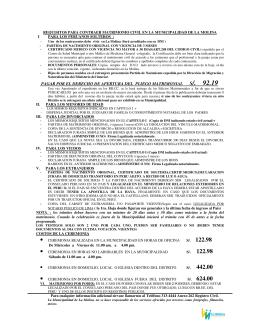 Requisitos para contraer matrimonio civil - Requisitos para casarse ...