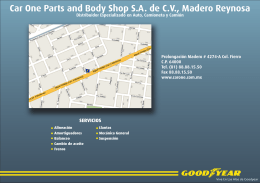Car One Parts and Body Shop SA de CV, Madero