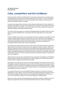 Cuba, competition and the Caribbean