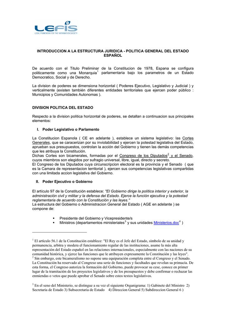 Estructura Jurídica Del Estado Español