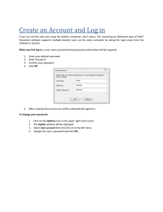 Create an Account and Log in
