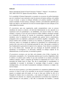 Editorial Daena: International Journal of Good Conscience Volumen