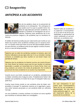 anticípese a los accidentes