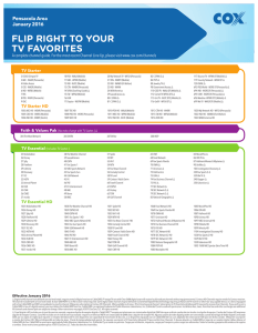 Channel Lineup FLIP RIGHT TO YOUR TV FAVORITES