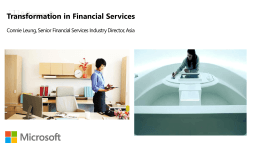 Transformation in Financial Services