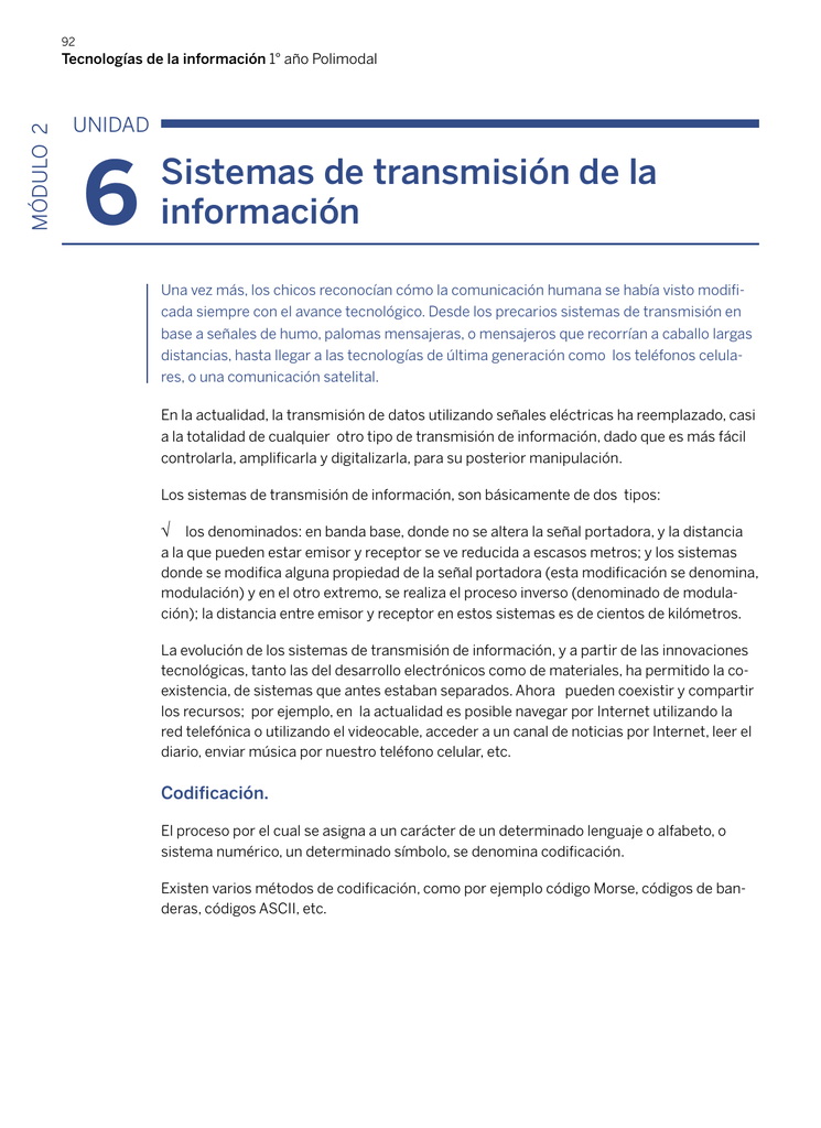 Sistemas De Transmisión De La Información