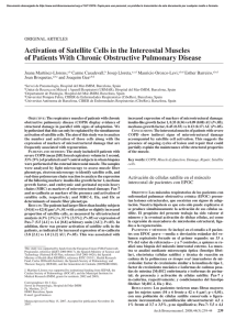 Activation of Satellite Cells in the Intercostal Muscles of Patients With