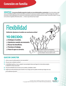 Flexibilidad - Character First Education