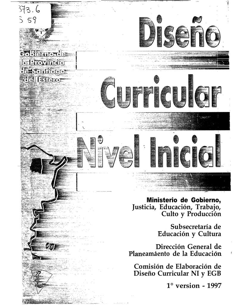 Diseño curricular: nivel inicial. Primera versión