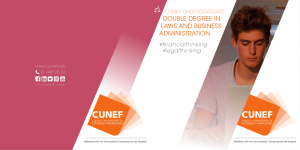 DOUBLE DEGREE IN LAWS AND BUSINESS ADMINISTRATION