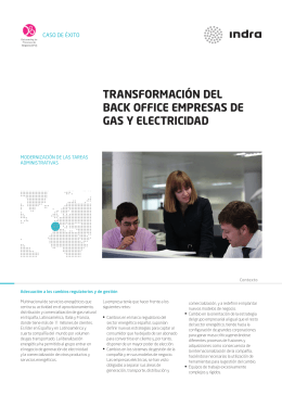 transformación del back office empresas de gas y electricidad