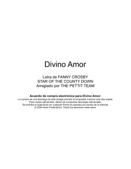 Divino Amor - Heart Publications