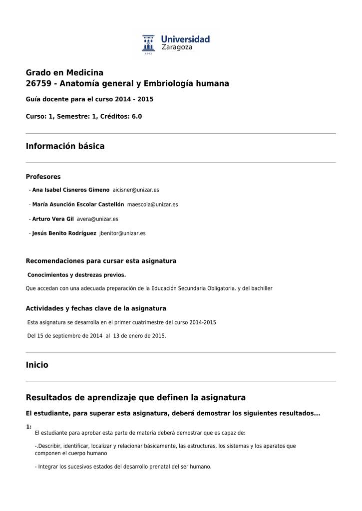descargar PDF - Oferta de titulaciones :: Universidad de Zaragoza