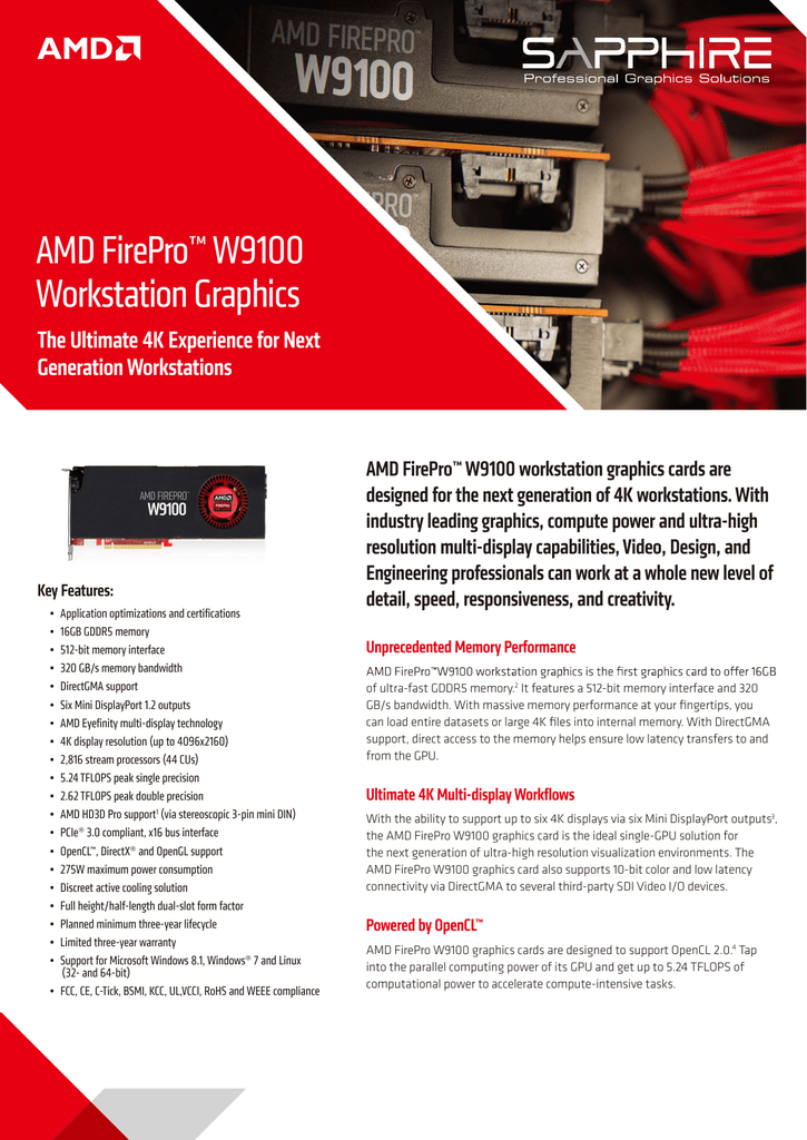 AMD FirePro™ W9100 Workstation Graphics