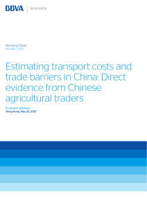 Estimating transport costs and trade barriers in