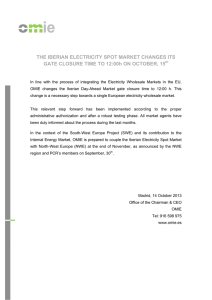 THE IBERIAN ELECTRICITY SPOT MARKET CHANGES ITS
