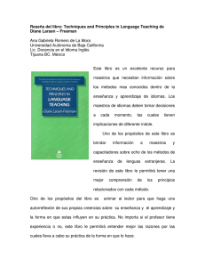 Reseña del libro: Techniques and Principles in Language Teaching