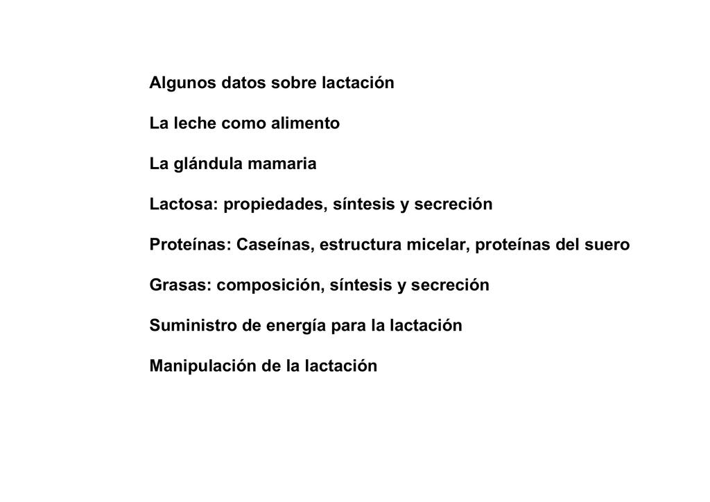 Bases Bioquímicas De La Lactacion